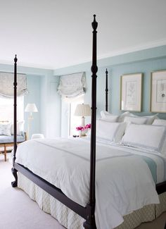 Coastal Style: Hamptons Chic Everything in this bedroom except the pics over the bed