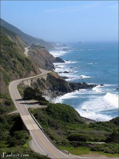 California Highway 1- fabulous drive!  On the way to Carmel by the sea, Monterey, and Big Sur