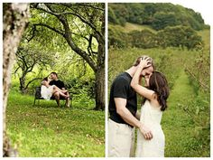 rainy orchard engagement session | photos by http://wearethehoffmans.com/