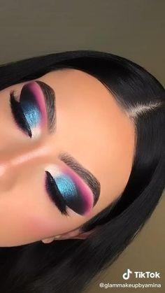 Face Paint Makeup, Dark Skin Makeup, Eye Makeup Art, Smokey Eye Makeup, Eyeshadow Makeup, Bright Eyeshadow, Glitter Makeup Looks, Makeup Eye Looks, Creative Eye Makeup
