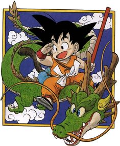 Dragon Ball - kid Goku and Shenlong - Manga by on DeviantArt Dragon Ball Gt, Kid Goku, Wallpaper Do Goku, Dragons, Arte Sketchbook, Manga Games, Manga Anime, Samurai, Akira Anime