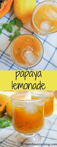 This papaya lemonade is incredibly easy to make and healthier than most versions (only a touch of honey, no sugar). So refreshing, it's perfect for a warm day, plus you can add your favorite spirit to make it a cocktail!