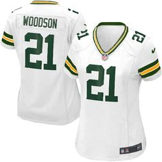 502c36af6 Shop for Official Womens Nike Green Bay Packers Charles Woodson Elite White  Jersey Get Same Day Shipping at NFL Green Bay Packers Team Store. Size S