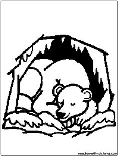 bears hibernation coloring pages - photo#25