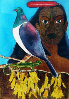'Maui' by Robyn Kahukiwa New Zealand Art, Nz Art, Maori Art, Kiwiana, What Is Like, Art Google, Mythology, Mystic, Art Nouveau