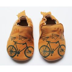 "Chaussons cuir ""tatoué"" vélo"