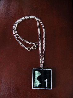 Video Game craft: Super Mario 3 World 1-1 Necklace.