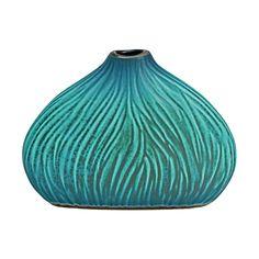 Park Avenue Collection Misu Ribbon Carved 4In Ceramic Bud Vase