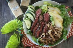 #paleo #paleomg Asian Pear Steak Salad