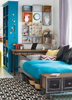 cozy all purpose area (basement bedroom?)