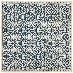 Safavieh Cambridge Navy Blue/Ivory 8 ft. x 8 ft. Square Area Rug