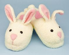 Almigal loves slippers and her favorites are her bunny pair! Almigal wears these slippers when she comes home from her cochlear implant surgery. Bunny Slippers, Cute Slippers, Slipper Socks, Crocheted Slippers, Kids Slippers, Felted Slippers, Bedroom Slippers, Retro Renovation, Baby Girl Shoes