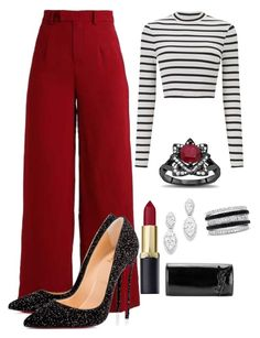 """""""Untitled #4"""" by luvof on Polyvore featuring Miss Selfridge, Christian Louboutin, Bloomingdale's, Effy Jewelry and Yves Saint Laurent"""