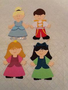 Disney Cricut Paper Dolls: Cinderella, Prince Charming, Stepsisters Drizella and Anastasia