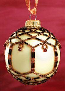 Beautiful beaded ornaments! I think I'll make a few!  :)