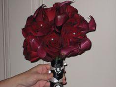 black magic rose/calla lilies bridal bouquet
