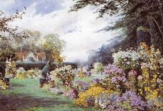 Henry John Sylvester Stannard: the Country Garden English Country Cottages, France, Victorian Era, Country Life, British, Gardening, Paintings, Art, Dress