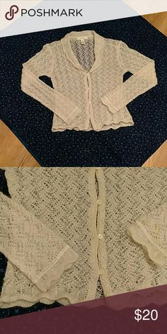 Victoria's Secret angora sweater Creamy angora button up sweater from VS Country clothing. Scalloped hem and sleeves. So feminine and soft! 55% MOHAIR, 25% NYLON, AND 20% ACRYLIC.? Victoria's Secret Sweaters Cardigans