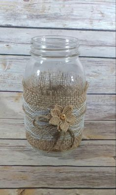 These are 12 ivory lace mason jar sleeves. The burlap and lace is already adhered together. Burlap Mason Jars, Mason Jar Crafts, Mason Jar Diy, Bottle Crafts, Wedding Jars, Wedding Centerpieces Mason Jars, Wedding Tables, Diy Wedding, Rustic Wedding