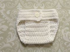 Crochet baby diaper cover size 0-3 mos an adorable by SquirmyWorms