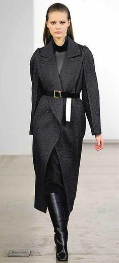 Timeless coat. Calvin Klein, Pre-Fall 2013.