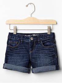 1969 denim midi shorts