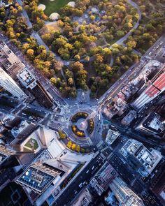 Columbus Circle from above by @craigsbeds #nyc #newyork #newyorkcity #manhattan