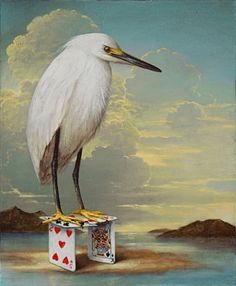 Kevin Sloan, Above the Flood Illustrations, Illustration Art, Ap Studio Art, Design Graphique, Pop Surrealism, Cool Pets, Surreal Art, Animal Paintings, Bird Art