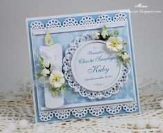 Blue baptism card