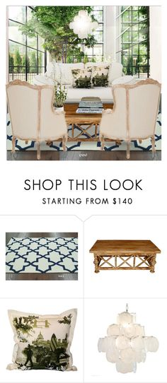 """Atrium Seating"" by annmaira ❤ liked on Polyvore featuring interior, interiors, interior design, home, home decor, interior decorating, nuLOOM, CFC, Safavieh and Timorous Beasties"
