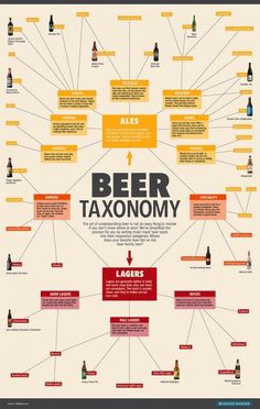 Many beer drinkers often wonder what is the distinction between lager and ale, and the answer to this simply lies in the method in which they are both fermented. Beer Types, Different Types Of Beer, Wein Poster, Beer Infographic, Ale Beer, Wheat Beer, Home Brewing Beer, Beer Recipes, Coffee Recipes