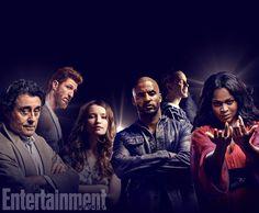 'American Gods' (2017) - Ricky Whittle, Emily Browning, Crispin Glover, Bruce Langley, Yetide Badaki, Pablo Schreiber, Ian McShane.
