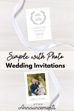 This wedding invitation design is for those who want to share a moment of their life as a couple but still also want to keep it clean and simple. Minimal design in front plus your photo at the back will surely tick off both objectives. Contact us for more custom designs based on your preference.