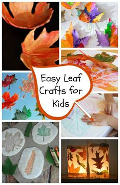 Perfect for fall: Easy leaf crafts for kids of all ages, from toddlers to preschoolers, kindergarteners, and above.