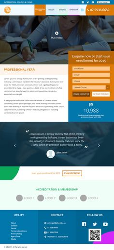 Website design for Queensland International Business Academy