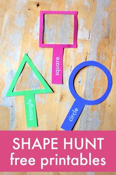 Fun shape lesson with free printable shape magnifying glasses - shape activities Best Picture For Teacher Resources organization For Your Taste You are looking for something, and it is going to tell y Free Preschool, Preschool Printables, Preschool Learning, Toddler Activities, Learning Activities, Preschool Activities, Free Printables, Preschool Shapes, Circle Crafts Preschool