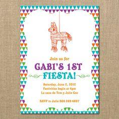 Baby 1st Fiesta Birthday Invitation By PerchedOwl On Etsy 1200