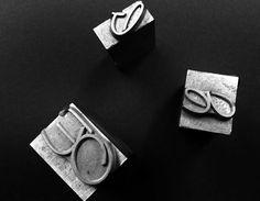 """Caratteri mobili per stampa tipografica in carattere """"Corsivo Inglese"""""""