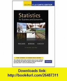 Statistics For Business And Economics 11th Edition Pdf Torrent