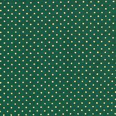 Weihnachtspunkte 2 - Baumwolle - dunkelgrün