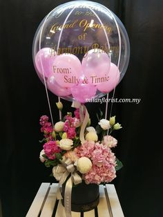 Pictures Of Birthday Balloons and Flowers Elegant Jason Balloons Decor Paper Flower Balloon Centerpieces, Centerpiece Decorations, Decoration Table, Balloon Decorations, Balloon Flowers, Balloon Bouquet, Paper Flowers, Ballon Arrangement, Flower Arrangements