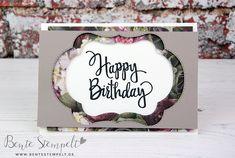 Geburtstagskarte Happy Birthday Stampin' Up! Designerpapier Blütenpracht Workshop, Stamping Up, Party, Card Ideas, Blog, Happy Birthday, Seasons, Stitch, Frame