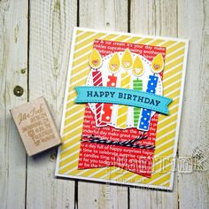 Happy Birthday Candles Fancy Greeting Card Handmade for Wife Girlfriend Boyfriend Husband Friend Sister Mom Daughter Niece Aunt by JanTink on Etsy