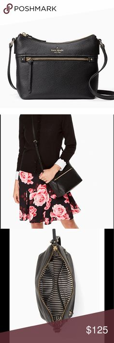 """Kate Spade Orchard Street The must have black purse. Authentic leather Orchard Street Small Natalya. MEASUREMENTS: 10.6""""h x 11""""w x 6""""d. Drop Length: 20"""" kate spade Bags Crossbody Bags"""