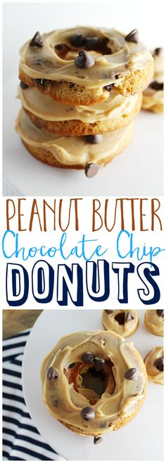 Whip up some yummy Peanut Butter Chocolate Chip Donuts. They are so easy to make and perfect for a sweet breakfast or dessert! The recipe is one your family won't be able to resist.