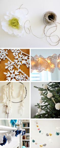 DIY Garland Roundup - excellent group of DIY garlands with links to how to create each!  Creature Comforts rocks!!