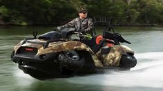 If you've ever had your ATV fun ruined by the sudden appearance of a body of water, then you're going to love the Quadski, a four wheeler...