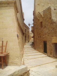 Alley in Victoria in Gozo, Malta