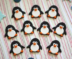 Cute Penguin Fondant Toppers - Perfect for Cupcakes, Cookies and Other Edible Creations