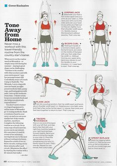 Miranda Lambert's workout from Crutch Boot Camp in Women's Health magazine www.brooklynfitchick.com